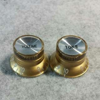 Control Knobs For Electric Guitar - LP-style (Gold) - include postage