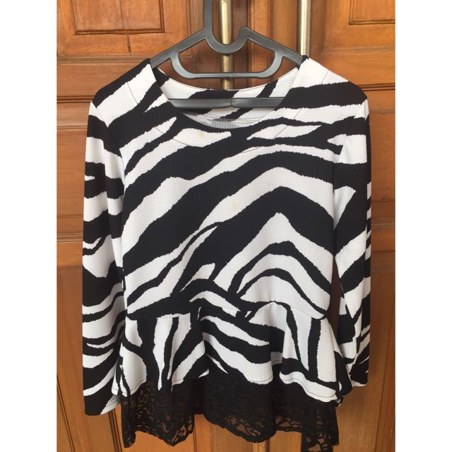1 set zebra dress