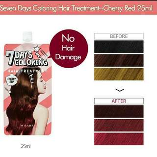 Missha 7 Days Coloring Hair Treatment (Red Cherry)