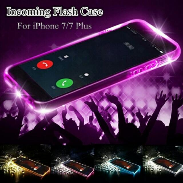 reputable site cb423 cf012 (Po)2017 Luxury New Soft TPU LED Flash Light Up Remind Incoming Call Case  Cover For iPhone 7 7 Plus 6 6S Plus iPhone iPhone 5S SE 5 Samsung Galaxy S7  ...