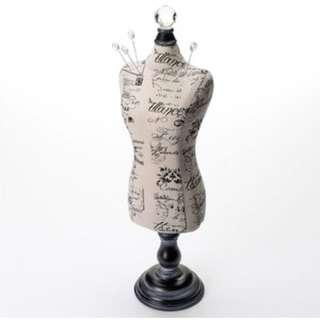 Black Mannequin Jewellery Stand