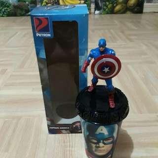 Petron Captain America Tumbler With Figurine