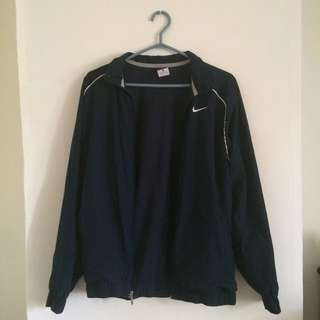 Nike Navy Zip Up Dri-fit Jacket