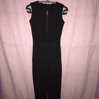 black long jumpsuit // jumpsuit hitam
