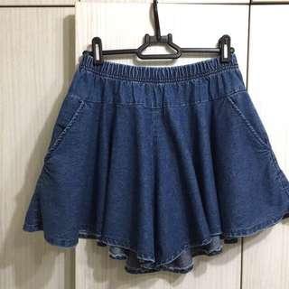單寧口袋褲裙 韓