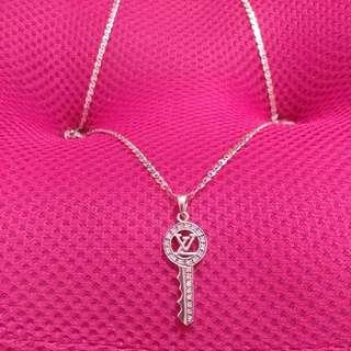 LV Silver Necklace