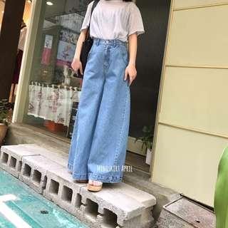 單寧立體剪裁褲裙 韓