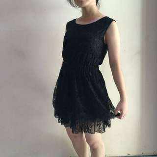 Dress Hitam Korea