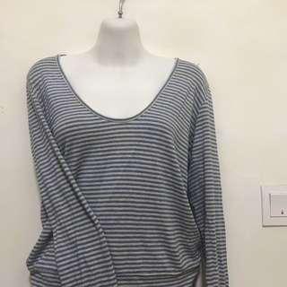 Long sleeve loose blouse - Machpee.