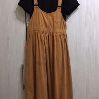 卡奇 條絨吊帶裙 日本