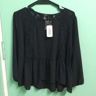 Forever 21 Long Sleeve Lace Blouse