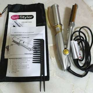 Korea Spin Styler Magic Hair Iron with spin(29cm)