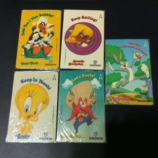 Warner Brothers - Looney Tunes - Phonecards [set Of 5 Cards]