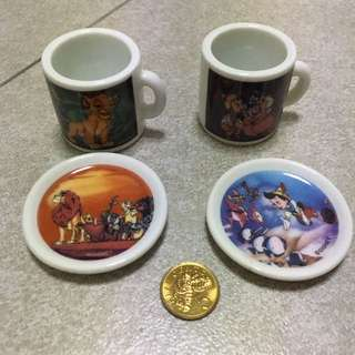 Mini Cups And Plate Set