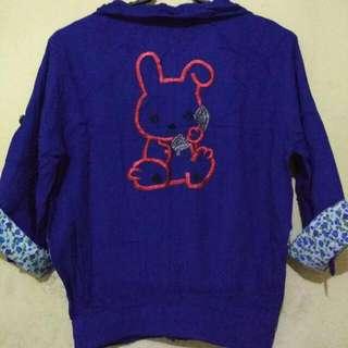 Blezer Kain Semi Cardigan - Rabbit
