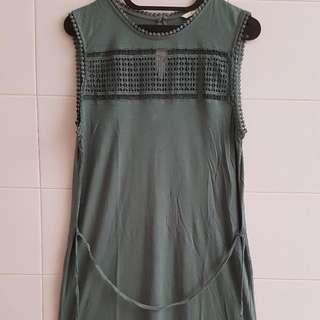 Green H&M Casual Dress