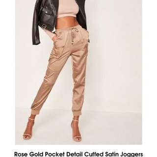 Rose Gold Joggers