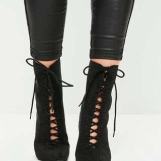 Lace Up Boots Size 7