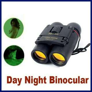(Po)30x60 Day And Night Camping Travel Vision Spotting Scope 126m/1000m Optical military Folding Binoculars Telescope (Color: Black)