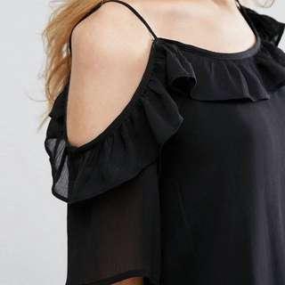 Pimkie Off-shoulder Black Dress (Size S)