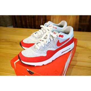 Nike Air Max 1 Ultra Flyknit , OG Red / White Size US 10.5 / EU 44.5