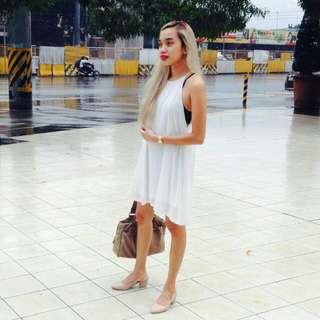Sideboob White Dress