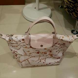 Tas 2nd Original Longchamp Sakura White Bag Authentic Branded