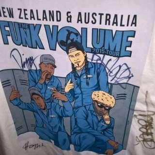Signed Funk Volume Tshirt... From Last Australia Concert