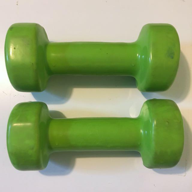 2.5kg Arm Exercise Dumbells Green