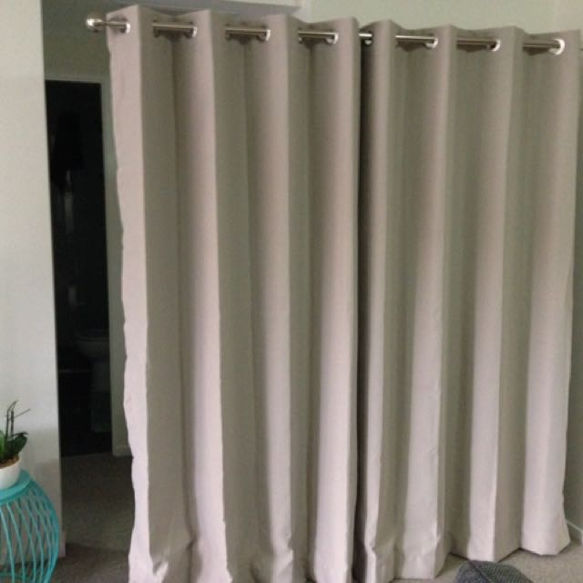 3 Pair Blockout Curtains