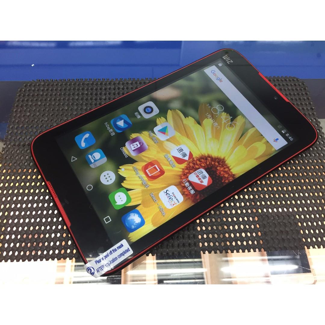 售9成新 WIZ T7168 遠傳  保固內 平板電腦 可通話 4G-LTE版 7吋 雙卡雙待 四核心
