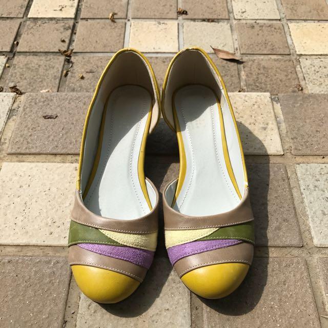 Felissimo日牌楔型低跟鞋
