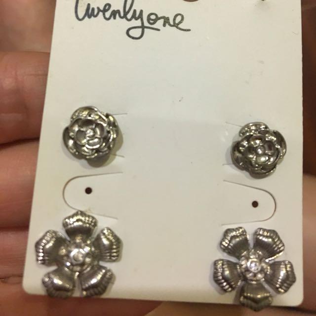 銀飾 耳環