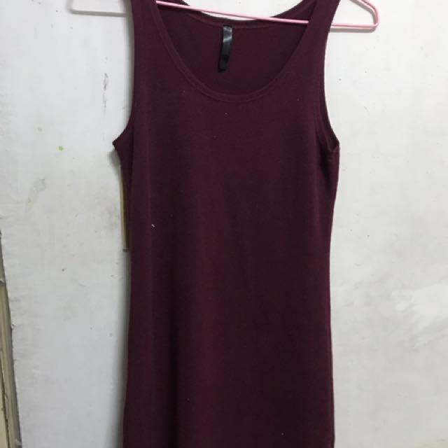 桃紅色 彈性好 背心 可做長版單穿