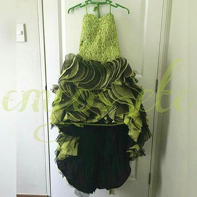 👗 Green Descending Dress