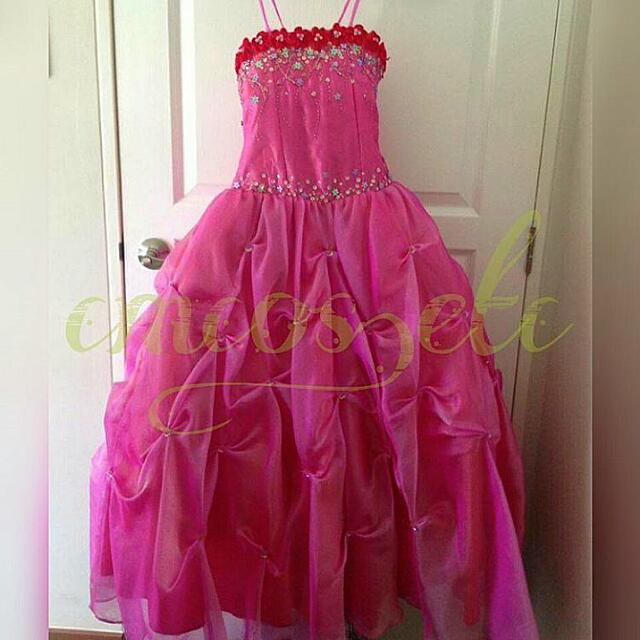 👗 Pink Party Gown