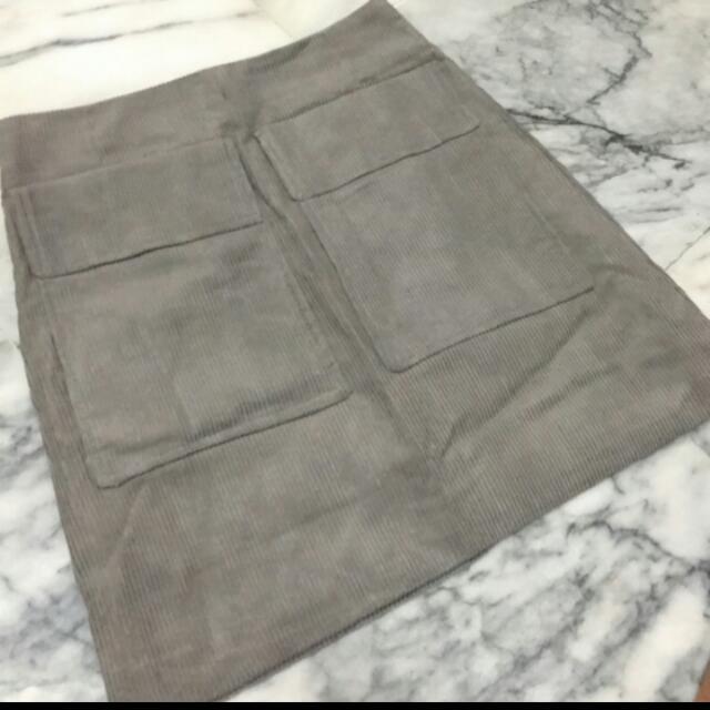假口袋a字短裙
