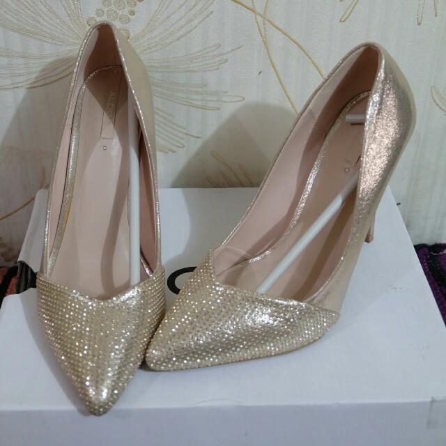 Aldo Gold Glittery Shoes