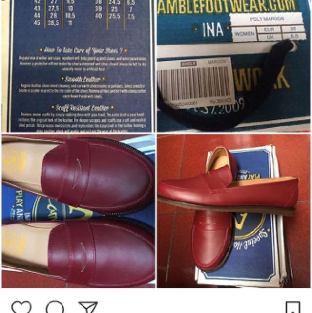 Amble Foot Wear Maroon Woman