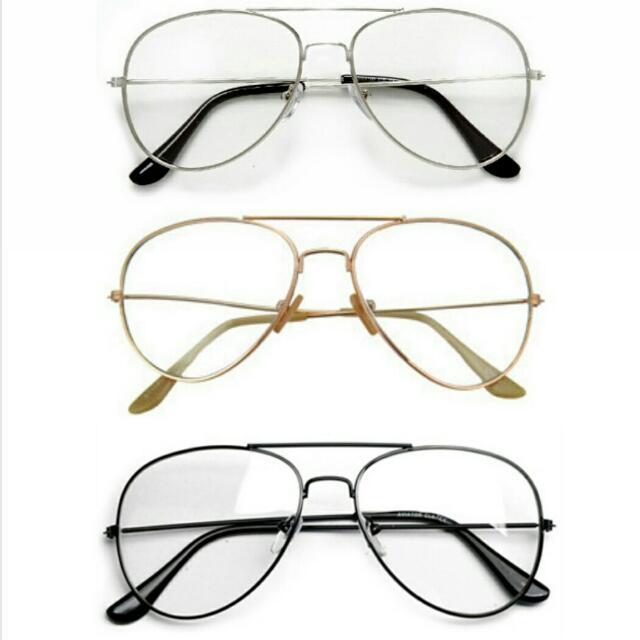 Aviator Clear Glasses