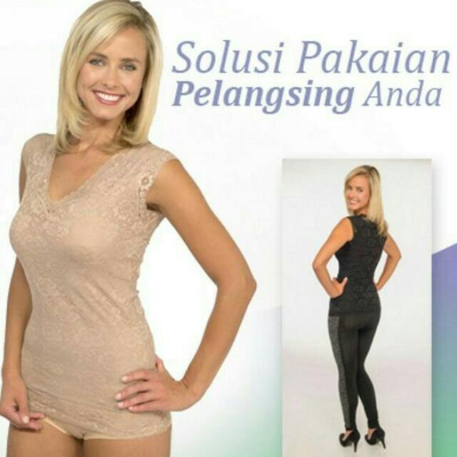 Baju Pelangsing Import Caresse Lace Top Ori