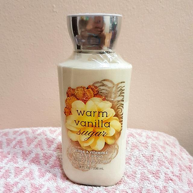 Bath And Body Works Warm Vanilla Sugar Body Lotion W/ Shea Butter And Vitamin E