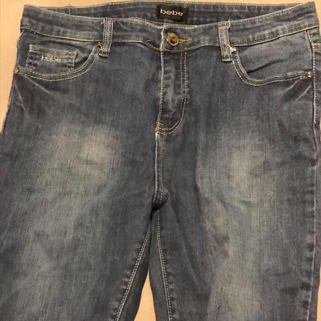 Bebe Jeans Knee Length Short
