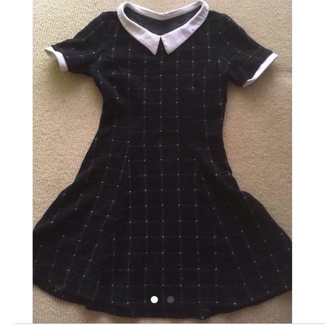 Black Grid Dress 8