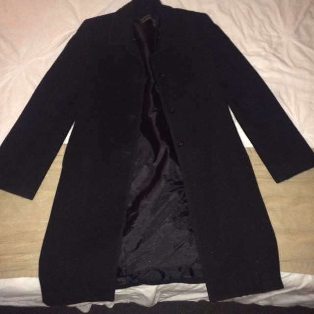 Black Knee Length Coat