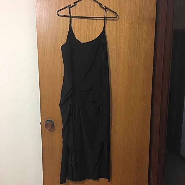 Black Silk Dress - Sportsgirl Limited Sz 12