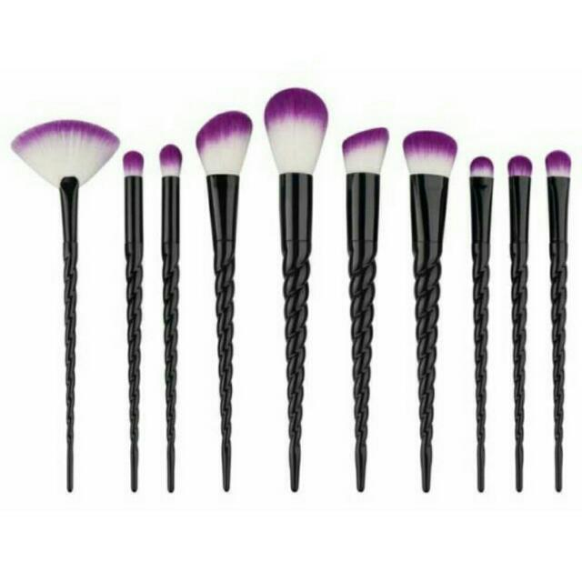 Black Unicorn Makeup Brush