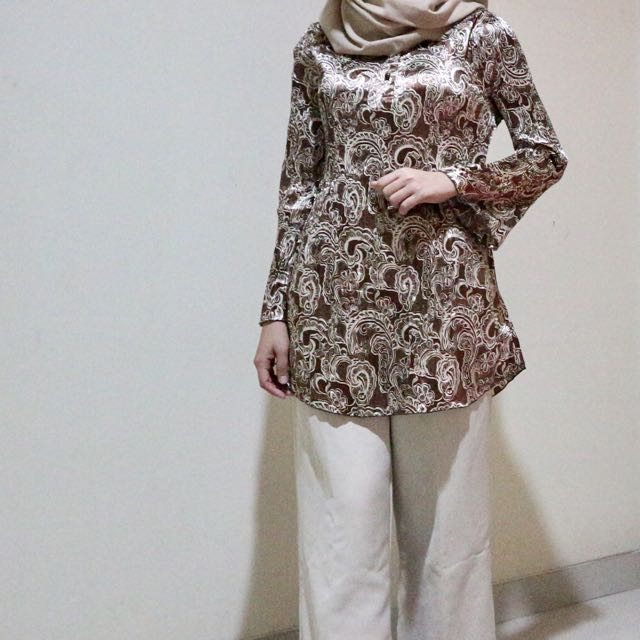 Blouse Plisket Batik Panjang