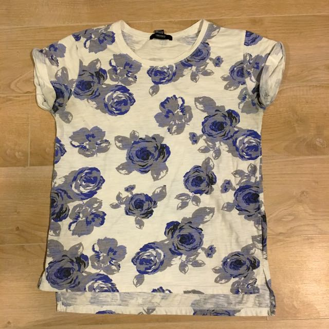 Blue Floral Tee
