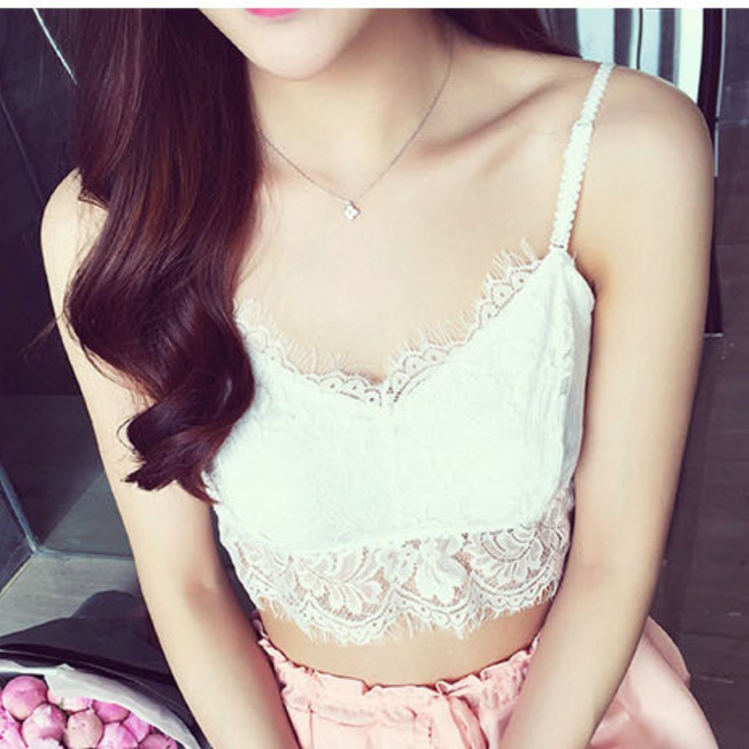 7042811bb8 BN Instock  Lace bralette   sexy wireless bra   lingerie   crochet ...